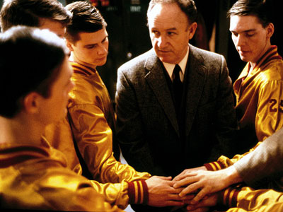 Hoosiers, Gene Hackman | HOOSIERS (1986) Predictable? Sure. Entertaining? Hell yeah! The story of a tough-as-nails coach (Gene Hackman) who leads a tiny team of improbable hoopsters all the…