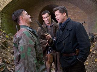Brad Pitt, Inglourious Basterds | CAPTIVE AUDIENCE Brad Pitt toys with a Nazi prisoner in Inglourious Basterds