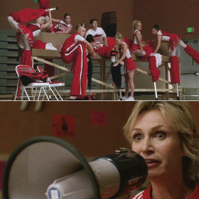Glee, Jane Lynch | ''You think this is hard? I'm passing a gallstone as we speak. That is hard!''