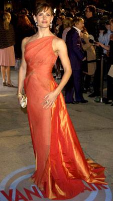 Jennifer Garner   How the ---- did Jennifer Garner's orange Valentino from the 2004 Oscars not make this list?! That dress was amazing. — Jason