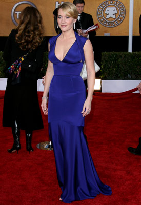 Kate Winslet   Kate Winslet at the 2008 SAG Awards. [The dress is often] terribly overlooked, but stunning none the less. — Kami
