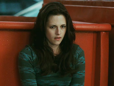 The Twilight Saga: New Moon, Kristen Stewart | Kristen Stewart's acting style goes a little like this: crease brows, pout lips, hang mouth open and blow derisively through nose, roll eyes, repeat. Repeat…