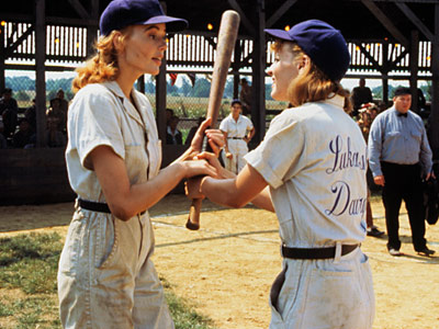 A League of Their Own, Geena Davis, ... | A LEAGUE OF THEIR OWN (1992) As coach Jimmy Dugan (Tom Hanks) says, ''There's no crying in baseball.'' But guys and gals alike might get…