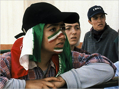 Offside | OFFSIDE (2006) This Iranian film focuses on girls who attempt to attend a World Cup qualifying match — despite the nation's laws banning women from…