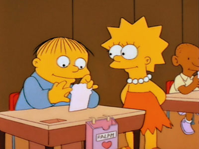 The Simpsons | 2. THE SIMPSONS ''I Love Lisa'' (1993) We choo-choo-choose this fourth-season gem for three reasons: 1) It perfectly illustrates why kids' Valentine's Day cards are…
