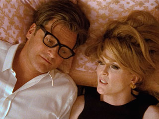 Colin Firth, Julianne Moore, ... | PRONE TO HEARTACHE Colin Firth and Julianne Moore share some pillow talk in A Single Man
