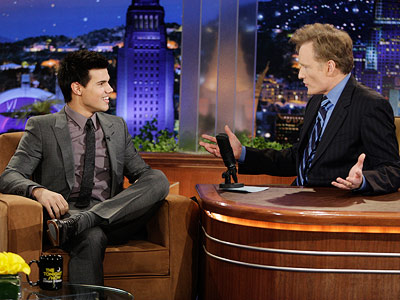 Late Night With Conan O'Brien, Taylor Lautner | If you watch television, how can you not be sick of this movie already? My favorite actor is Daniel Day-Lewis. If he were on every…