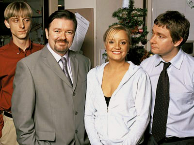 The Office (TV Show - 2001) | 8. THE OFFICE (U.K.) Christmas special (2003) It's almost unbearable in the beginning: David Brent (Ricky Gervais) whores his D-list ''celebrity'' judging contests in clubs,…