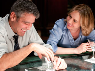 George Clooney, Up in the Air | HAPPY HOURS George Clooney and Vera Farmiga flirt up a storm in Up in the Air