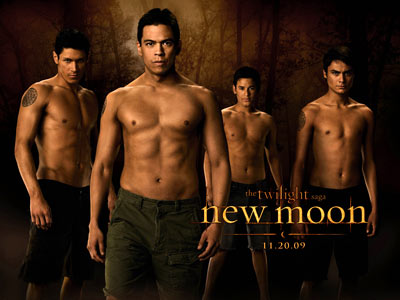 The Twilight Saga: New Moon | Last month, USA Today had the first look at New Moon 's Wolf Pack — Alex Meraz (Paul), Chaske Spencer (Sam), Bronson Pelletier (Jared), and…