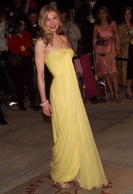 Renee Zellweger | Renée Zellweger at the Oscars (2001) The actress had us at the first sight of this sunny Lily et Cie gown.