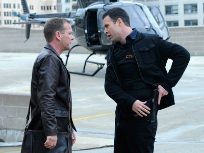 24, Kiefer Sutherland | 24 recap: Jack Gets Pulled Back in, and So Do We Injured to all bloody hell, Benito Martinez's character manages to track down Jack —…