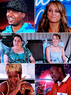 American Idol | (Clockwise from top) Jermaine Sellers and Mallorie Haley move to the head of the class; Vanessa Wolfe proves she can swing with the big guns;…