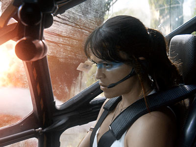 Avatar | In a battle sequence, it looks like Michelle Rodriguez is piloting an open-air helicopter, but she wouldn't be able to breathe the Pandoran atmosphere. What…