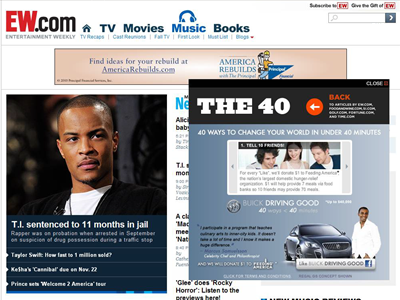 The ad unit also showcased Buick?s Driving Good message and video ?40 Ways to Change Your World in Under 40 Minutes?