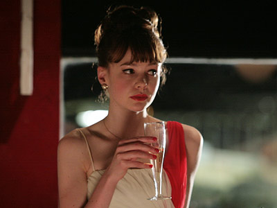 An Education, Carey Mulligan | CAREY MULLIGAN'S RED LIPSTICK FROM AN EDUCATION Unfortunately for us, most of what Carey Mulligan's character wore in An Education — from her delicate jewelry…