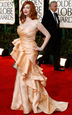 Golden Globe Awards 2010   CHRISTINA HENDRICKS What do you think of this look? ( polls )