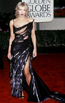 Golden Globes, Courtney Love | Courtney Love in 2000 The Hole singer's dress was ripped to shreds — even before fashion critics had their turn.