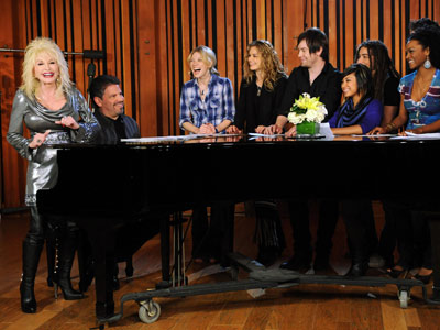 American Idol, Dolly Parton   Ratings will go [through] the roof! All the middle-aged men will watch AI as well, LOL! — NES