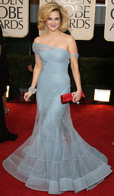 Golden Globe Awards 2009, Drew Barrymore | BEST DRESSED/WORST HAIR Drew Barrymore The diaphanous off-the-shoulder Dior was a winner, but Drew needed to turn down the volume on her hair — by…