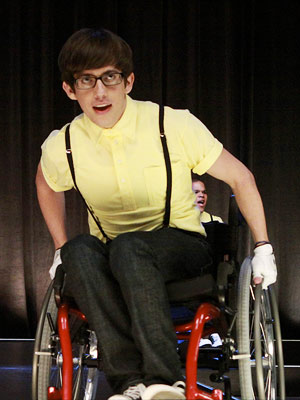 Glee   Kevin McHale — Artie from Glee .? Don't tell me I'm not COMPLETELY right in fantasy-casting that one. — Chris