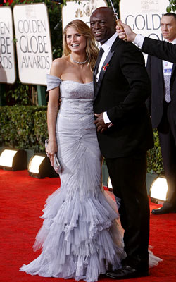 Golden Globe Awards 2010   HEIDI KLUM and Seal What do you think of this look? ( polls )
