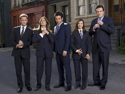 How I Met Your Mother, Alyson Hannigan, ... | For the 100th episode, airing Jan. 11 For the upcoming milestone, the cast suited up for a musical number called ''Nothing Suits Me Like a…