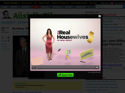 For The Real Housewives , interacting with the ad resulted in a page takeover featuring a 0:15 teaser video with tune-in messaging.