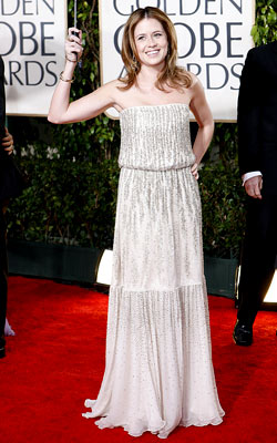 Golden Globe Awards 2010   JENNA FISCHER What do you think of this look? ( polls )