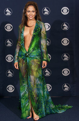 Jennifer Lopez | The Grammy Awards' default ''shocking outfit'' let us in on the wonders of double-sided tape and served as a reminder of how endangered the (silk-screened)…