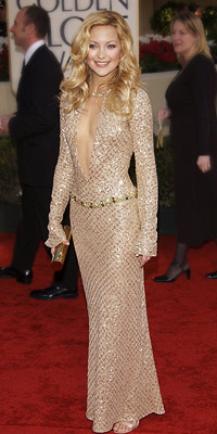 Kate Hudson | Kate Hudson in 2002 The usually boho-chic star showed off her glam side (and her sternum) in a dazzling Versace.