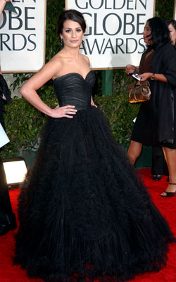 Golden Globe Awards 2010 | LEA MICHELE The Glee actress cemented her status as the next red-carpet star in this high-volume, high-glamour Oscar de la Renta gown. Grade: A+