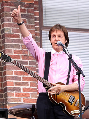 Paul McCartney   I think Paul McCartney would be perfect for the show. Talk about a ''music background.'' — cincyron