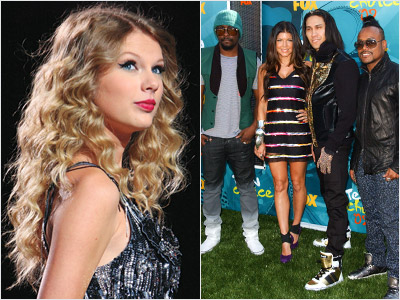 Taylor Swift, Black Eyed Peas   RECORD OF THE YEAR Will win: Taylor Swift's ''You Belong With Me'' The Academy's stuffier members might balk at honoring empty-calorie pop trifles like the…