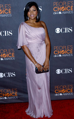 Taraji P. Henson | TARAJI P. HENSON The flattering lilac shade and impeccable draping of this Alberta Ferretti one-shoulder gown made for a fashion home run. A