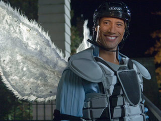 Dwayne ''The Rock'' Johnson, Tooth Fairy | HELMET SOLD SEPARATELY Dwayne Johnson tries to earn his wings in Tooth Fairy