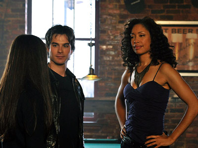The Vampire Diaries, Gina Torres, ... | The Vampire Diaries recap: Damon Went Down to Georgia And on they went to a bar where Gina Torres from Firefly was the bartender, Bree.…