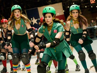 Ellen Page, Drew Barrymore, ... | WHIP IT Drew Barrymore, Ellen Page and Kristen Wiig couldn't wait any longer for a Rollerball sequel