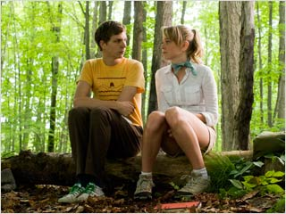 Michael Cera, Youth in Revolt | LOG ROLES Michael Cera and Portia Doubleday get back to nature in Youth in Revolt