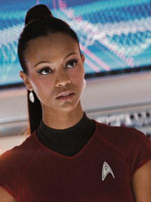 Star Trek, Zoe Saldana   Zoe Saldana — she's athletic enough, and can handle a starring role. — L Bob