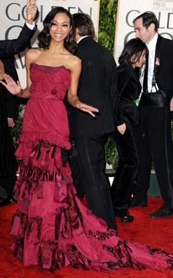 Golden Globe Awards 2010   ZOË SALDANA What do you think of this look? ( polls )