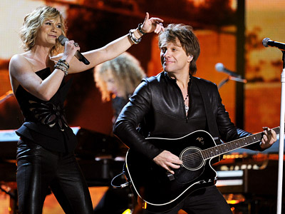 Jon Bon Jovi | BON JOVI Jersey's second-favorite sons (sorry kids, Bruce is still and always boss) delivered a perfectly serviceable ''We Weren?t Born to Follow,'' followed (hey!) by…