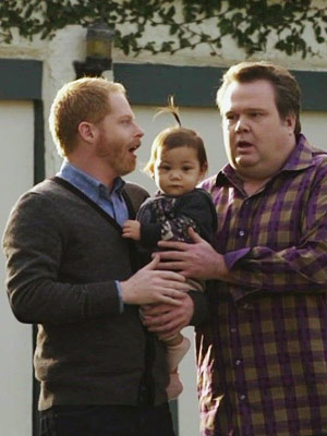 Modern Family, Eric Stonestreet, ... | ''Take it down a notch, we?re trying to make a friend, not initiate a three-way.'' — Mitchell to Cameron, who was over-complimenting their pediatrician (episode…
