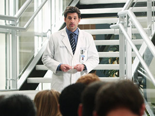 Grey's Anatomy, Patrick Dempsey | It was almost a pleasure to see the normally cocky Shephard seeming so unsure of himself as he addressed the staff