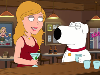 Family Guy | BRIAN GRIFFIN (animated; mutt) Family Guy Psst! Don't tell Stewie, but this animated canine is smarter than the rest of the Griffin clan — combined.
