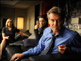 Pierce Brosnan, The Ghost Writer | FROWN AND OUT Pierce Brosnan is a controversial former British prime minister in Roman Polanski's The Ghost Writer
