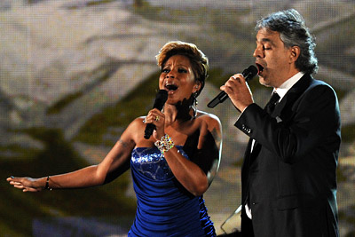 Mary J. Blige | ANDREA BOCELLI and MARY J. BLIGE Multiplatinum tenor (and every mom's favorite) Andrea Bocelli began a sobering Haiti tribute with an Italian-language version of the…