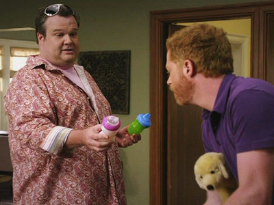 Modern Family, Eric Stonestreet | ''Wow, paisley and pink? Was there something wrong with the fishnet tank top?'' — Mitchell, to Cameron (episode 2)