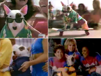 SPUDS MACKENZIE (Bull Terrier) Bud Light ads He's an '80s icon of cool. Just one look at his 1987 Super Bowl ad debut, and kids…
