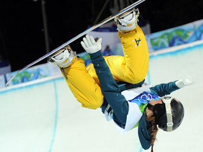 Winter Olympics 2010 | DAY 7 WINNER: Torah Bright SPORT: Snowboarding WHY HER: This Australian snowboarder is so studly because she pulled off the winning run — including the…